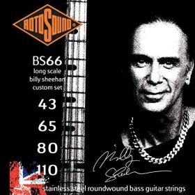 Rotosound Billy Sheehan Signature Custom Gauge Bass Strings - BS66, 43-110