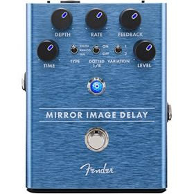 Genuine Fender Mirror Image Delay Electric Guitar Effects Stomp-Box Pedal
