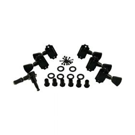 Kluson Revolution KED-3801B G-Mount 19:1 Ratio Tuning Machines 3-Per-Side, BLACK