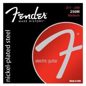 Fender Super 250M Nickel-Plated Steel Electric Guitar Strings Set - MEDIUM 11-49