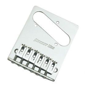 Hipshot 3-Hole 6-Saddle Telecaster Tele Guitar Bridge - STAINLESS STEEL CHROME