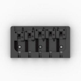 "Hipshot 5-String A-Style Aluminum Bass Bridge, .728"" String Spacing - BLACK"