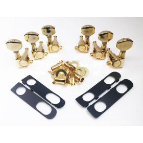 Hipshot GOLD 3+3 Classic Closed-Gear Machines 3x3 Tuners w/UMP for PRS Guitar