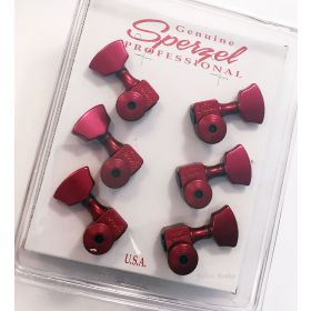 Sperzel 3x3 Trimlok 3 Per Side Locking Guitar Tuners 3+3 Tuning Pegs - RED