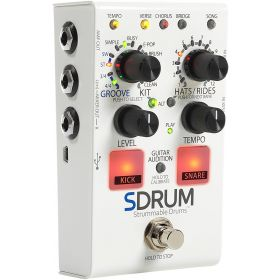 DigiTech SDRUM Strummable Drums Guitar/Bass Effects Pedal Drum Machine Stompbox