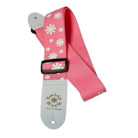 Daisy Rock Pink Poly Flower Adjustable Guitar Strap - DRS01