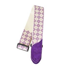 Daisy Rock Purple & White Argyle Adjustable Guitar Strap - DRS10