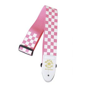 Daisy Rock Pink & White Checkered Adjustable Guitar Strap - DRS05