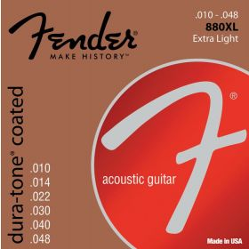 Fender 880XL Dura-Tone Coated Acoustic Guitar Strings - EXTRA LIGHT 10-48