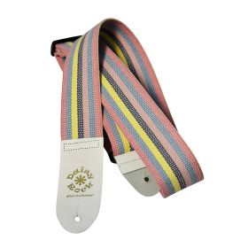 Daisy Rock Multi-Color Striped Cotton Adjustable Guitar Strap - DRS02