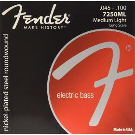 Fender 7250ML NPS Roundwound Bass Strings, Long-Scale MEDIUM LIGHT 45-100