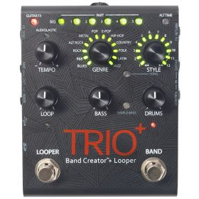 Digitech TRIO PLUS Band Creator Guitar Effects Pedal and Looper w/ Power Supply
