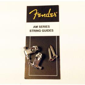 Genuine Fender American Series Strat/Tele Guitar String Guides - Chrome w/Screws
