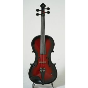 Barcus-Berry Vibrato-AE Acoustic-Electric Violin Outfit with Case - Red