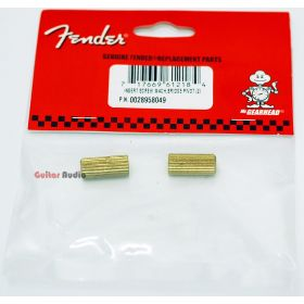 Genuine Fender 2-Point Tremolo Inserts Screws Bridge Pivots  - 2 Pack