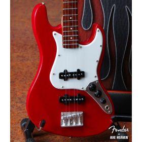 AXE HEAVEN Official Fender Red Jazz Bass MINIATURE Guitar Display Gift, FJ-001