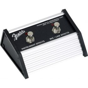 Genuine Fender 2-Button Amplifier/Amp Footswitch w/ 1/4-Inch Jack - 006-2206-000