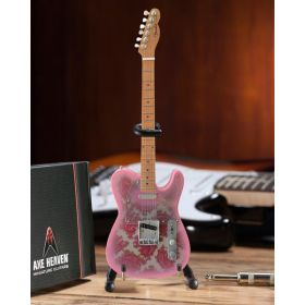 AXE HEAVEN Fender Pink Paisley Telecaster MINIATURE Guitar Display Gift, FT-005