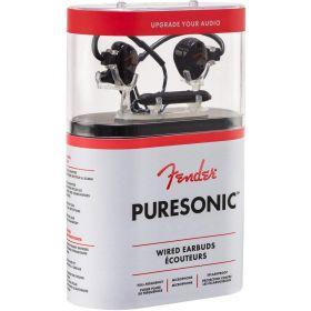 Genuine FENDER PureSonic Wired Earbuds In-Ear Headphones w/Mic+Remote - BLACK