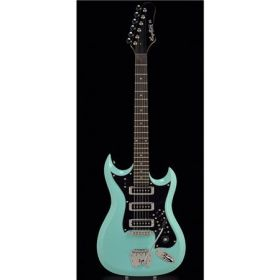 RetroScape Series - HIII - 1960's style double cutaway/3 pickups - Aged Sky Blue