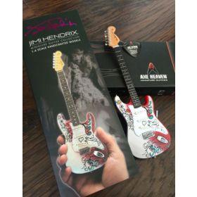 AXE HEAVEN Jimi Hendrix Fender Strat MINIATURE Guitar Display Gift