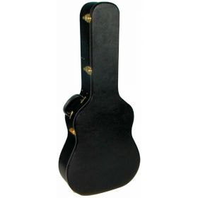 MBT Hardshell Wood Acoustic Guitar Case - Black Tolex Covering