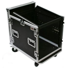 OSP 10-Space ATA Mixer Rack Road Tour Flight Case 12-Space Depth - MC12U-10