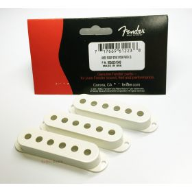 Genuine Fender PARCHMENT Strat/Stratocaster Pickup Covers - Set of 3