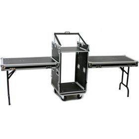 OSP PRO19 16-Space ATA Mixer Rack Road Tour Case with Standing Table Lids
