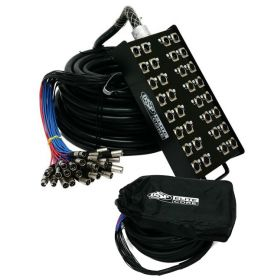 Elite Core PS248200 24 x 8 Channel 200' ft Pro Audio Cable XLR Mic Stage Snake
