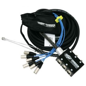 Elite Core 6 Channel 30' ft Pro Audio Stage Cable XLR Mic Sub Snake - PS6030