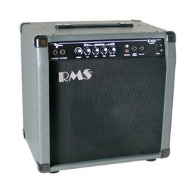 "RMS B40 40-Watt Electric Bass Guitar Amp Amplifier with 10"" Speaker"