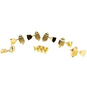 Kluson KVDW-3-GM 3x3 GOLD Waffleback 3-Per-Side Guitar Tuners/Tuning Machines