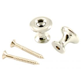 Kluson California Custom Strap Button Set - Chrome - KCSBC