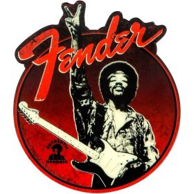 "Genuine Fender Jimi Hendrix Collection ""Peace Sign"" Red Magnet Guitar Gift"