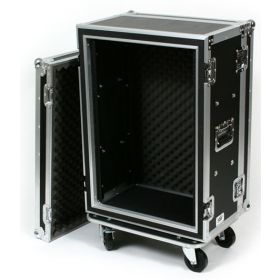 OSP 16-Space ATA Shock Mount Shallow Effects Flight Road Rack Case - SC16U-12