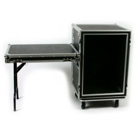 OSP 16-Space ATA Shock Mount Deep Amp Flight Rack Case w/ Table - SC16U-20SL
