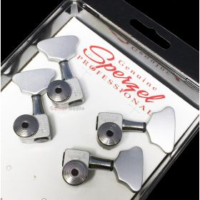 Sperzel 2x2 Trimlok 4-String Locking BASS Tuning Machine Pegs - SATIN CHROME