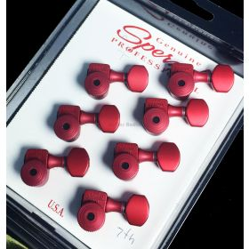 Sperzel 7-String In-Line Trimlok Locking Guitar Tuners Tuning Pegs - RED