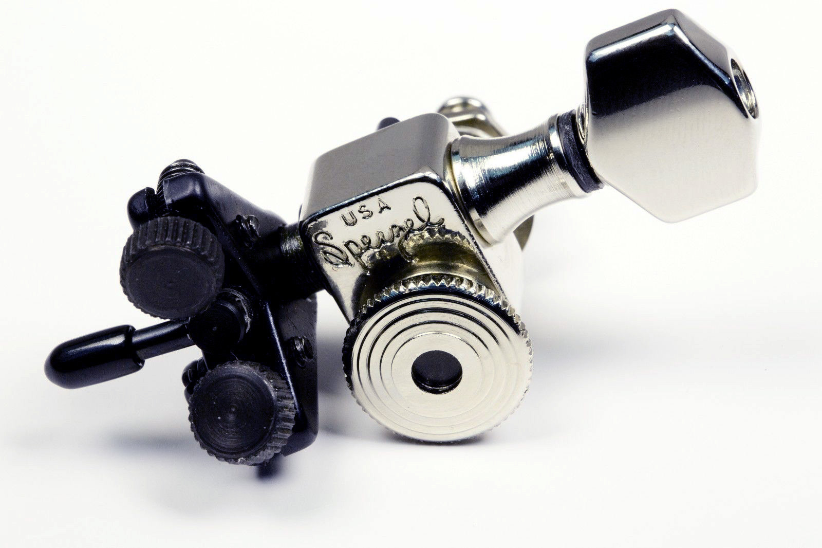 sperzel usa d thing drop d tuner locking guitar machine de tuner chrome 825282486645 ebay. Black Bedroom Furniture Sets. Home Design Ideas